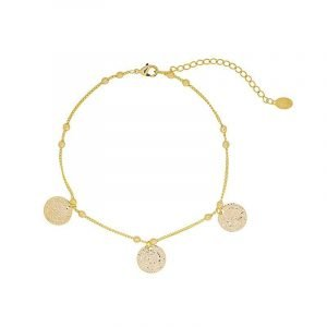 Gold plated anklet Caesar