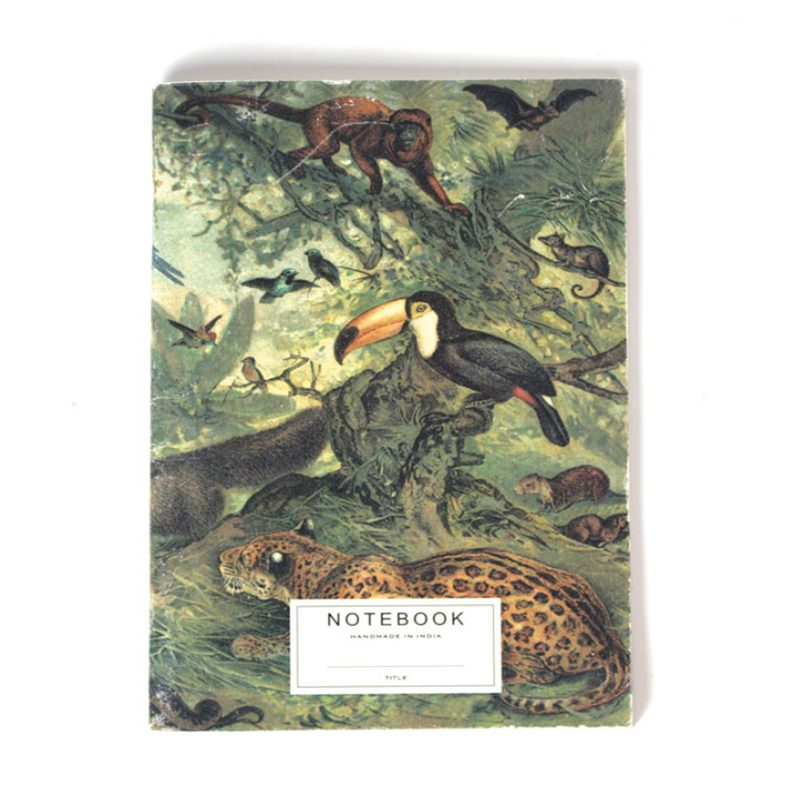 Handmade notebook Jungle