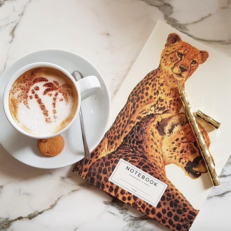 Handmade notebook Leopard