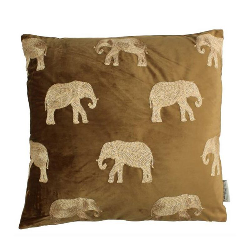 Velvet cushion Elephant