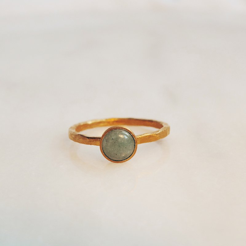 Handmade gemstone ring Neve