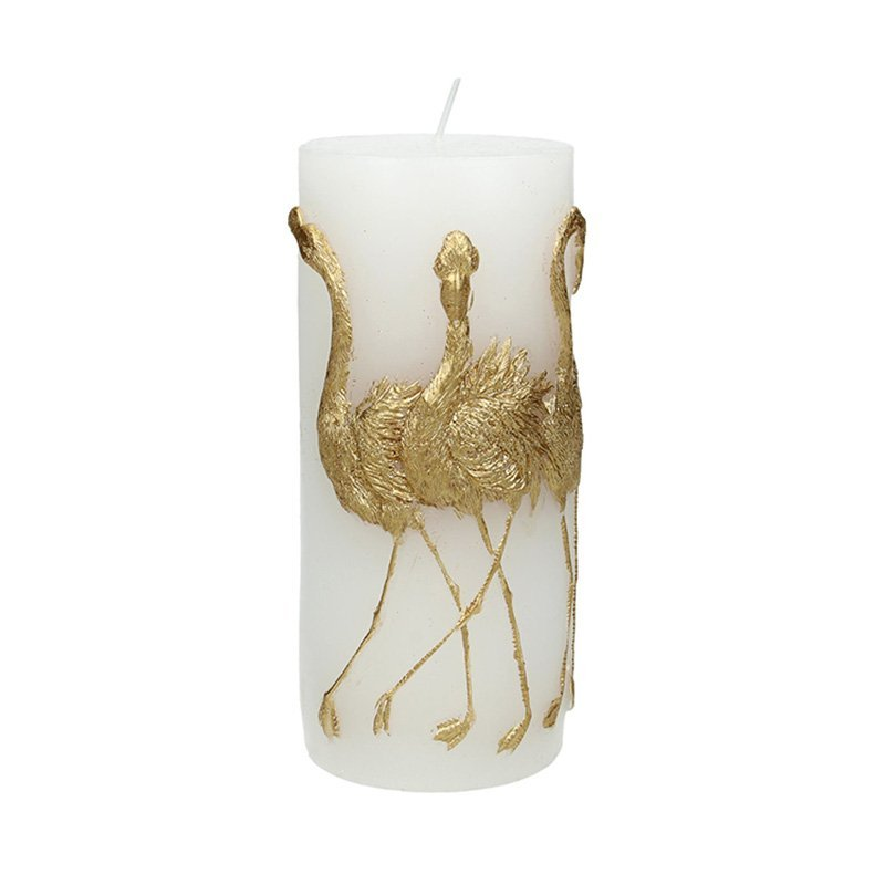 Blunt candle Flamingo