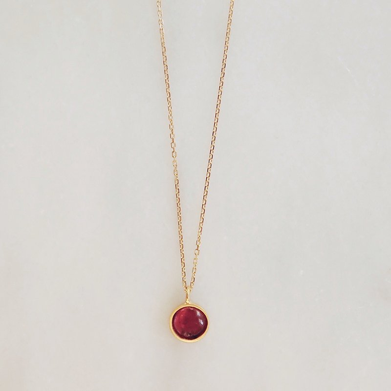 Handmade gemstone necklace Dahlia