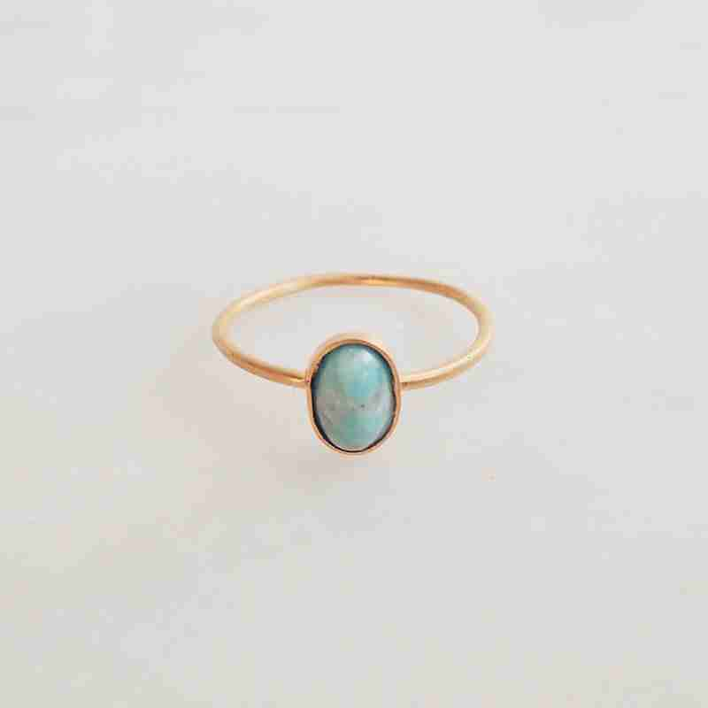 Handmade gemstone ring Lain