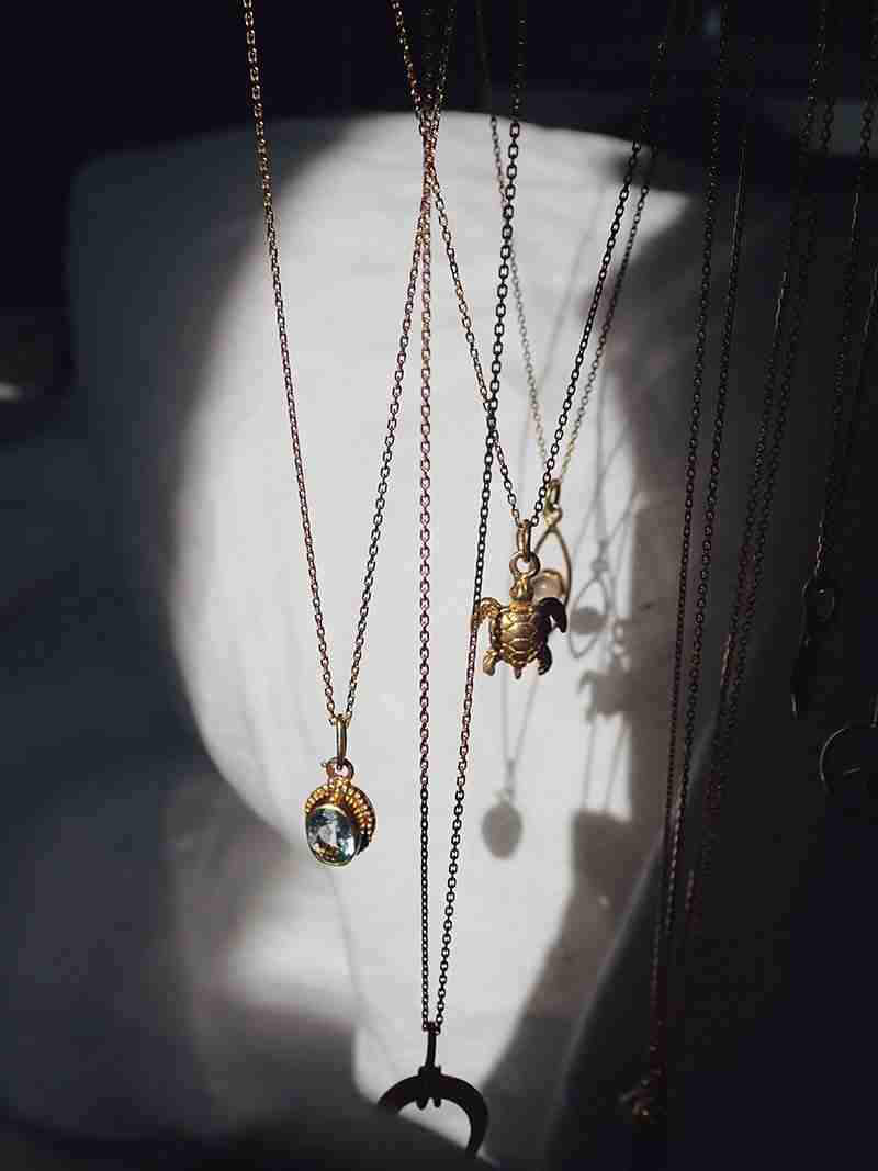 Handmade Necklace Collection Greek Gold x Indonesian Pendants