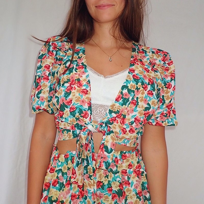 Floral Tie Top Sorrento
