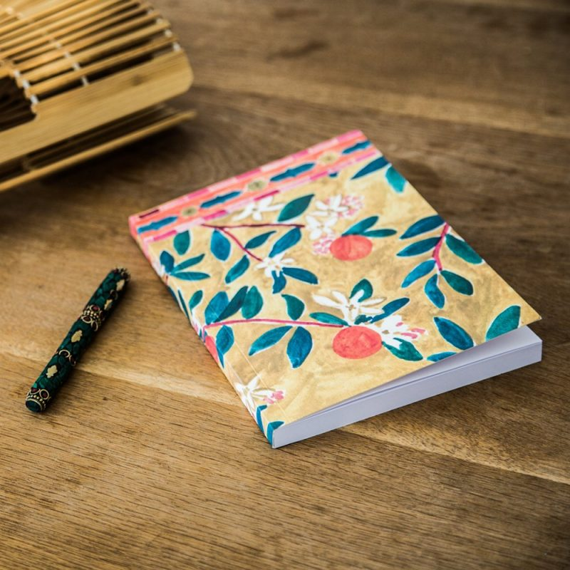 Handmade Notebook Orange Blossom