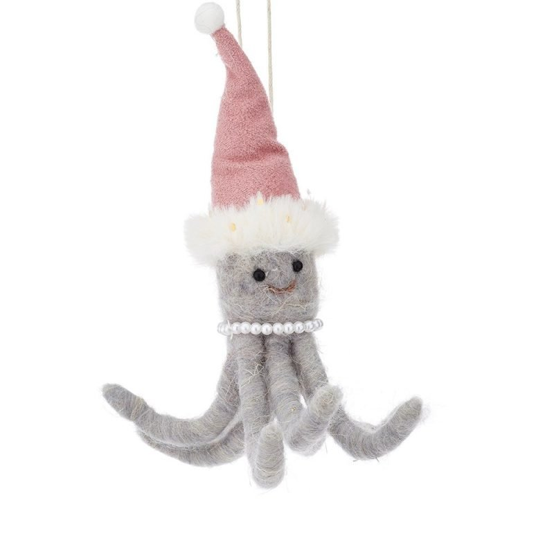 Wonderland Octopus Hanging Felt Decoration