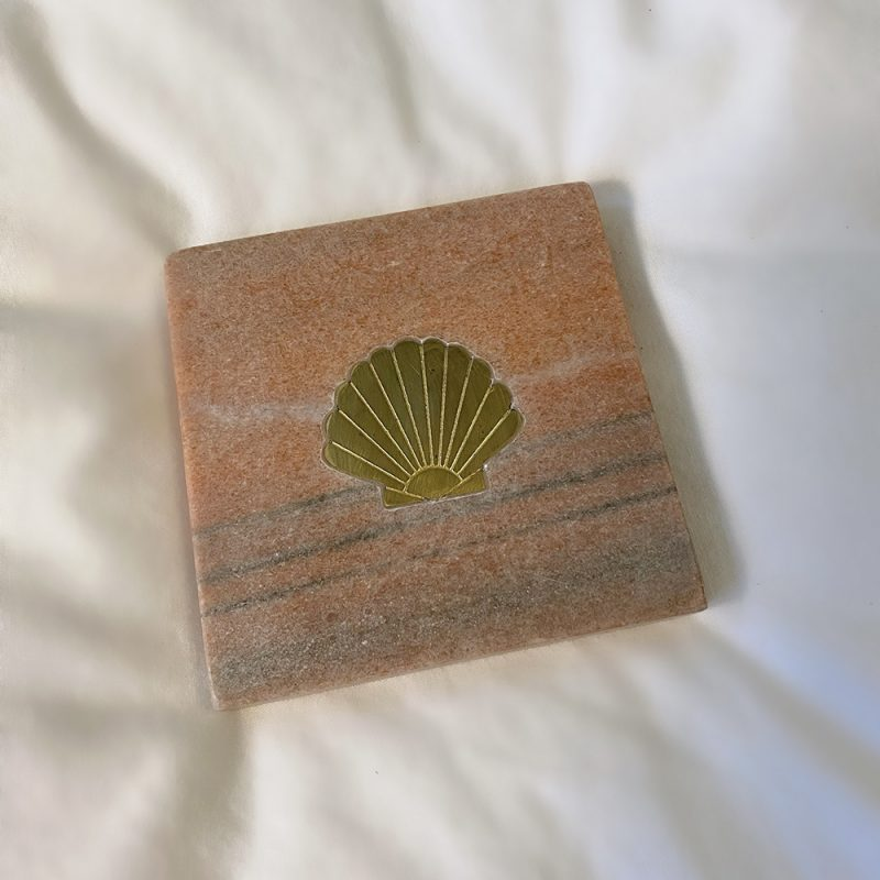 Marble Coaster Seashell