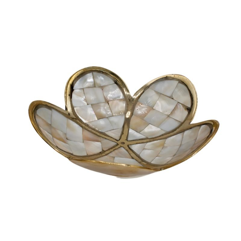 Handmade Mother Of Pearl Flower Bowl